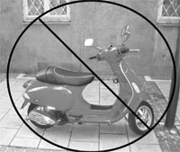 No Scooter Graphic for Digital Story