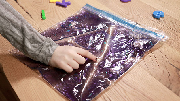 Try sensory freezer-bag writing
