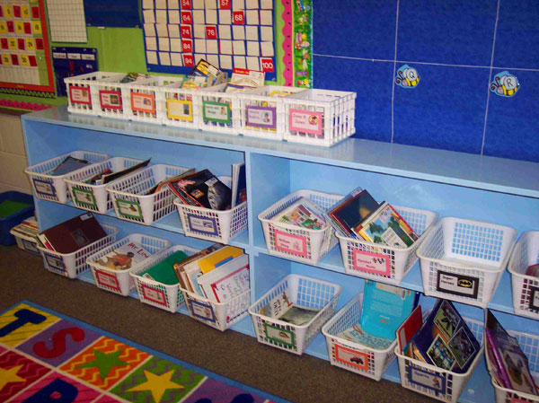 Second grade library after