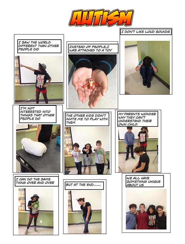 Figure 2. Autism Digital Comic Strip