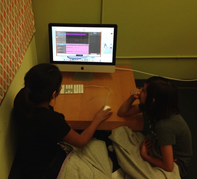 Figure 6. Students Working With GarageBand