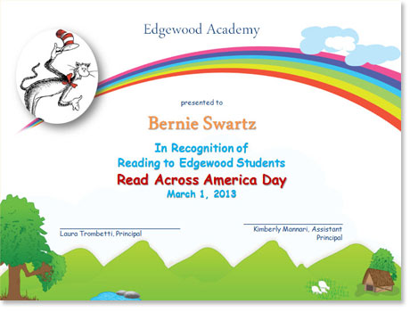 Read Across America Certificates