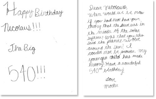 Making writing fun – Birthday Card Texts