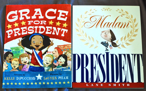 Madam President and Grace for President book covers