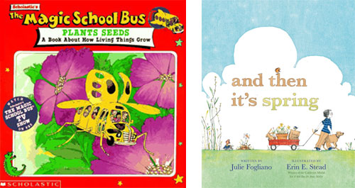 The Magic School Bus Plants Seeds book cover and And Then It's Spring book cover
