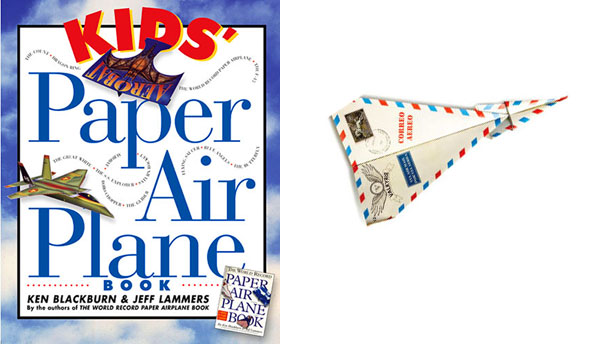 Kids' Paper Air Plane Book book cover