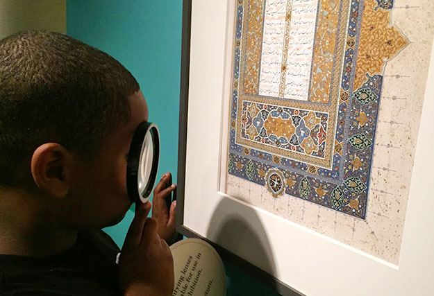 Turquoise Mountain at the Sackler: looking at illumination detail
