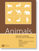 Animals reading adventure packs