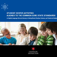 Student Center Activities Aligned to the Common Core State Standards