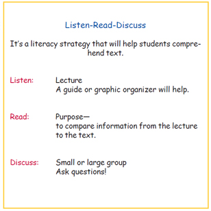 Listen-Read-Discuss (LRD) | Reading Rockets