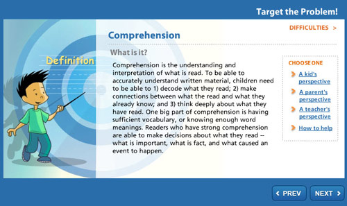 Target the Problem: Comprehension