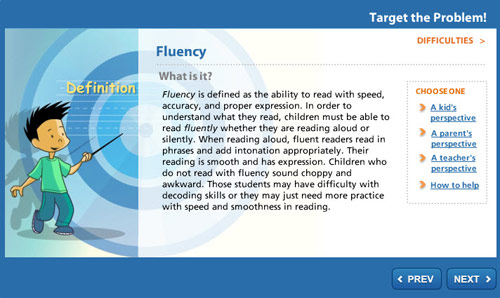 Target the Problem: Fluency