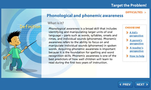 Target the Problem: Phonological and Phonemic Awareness