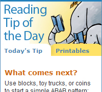 Widget: Reading Tip of the Day
