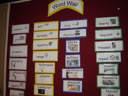 Figure 2. Vocabulary Word Wall Used in Ongoing Review