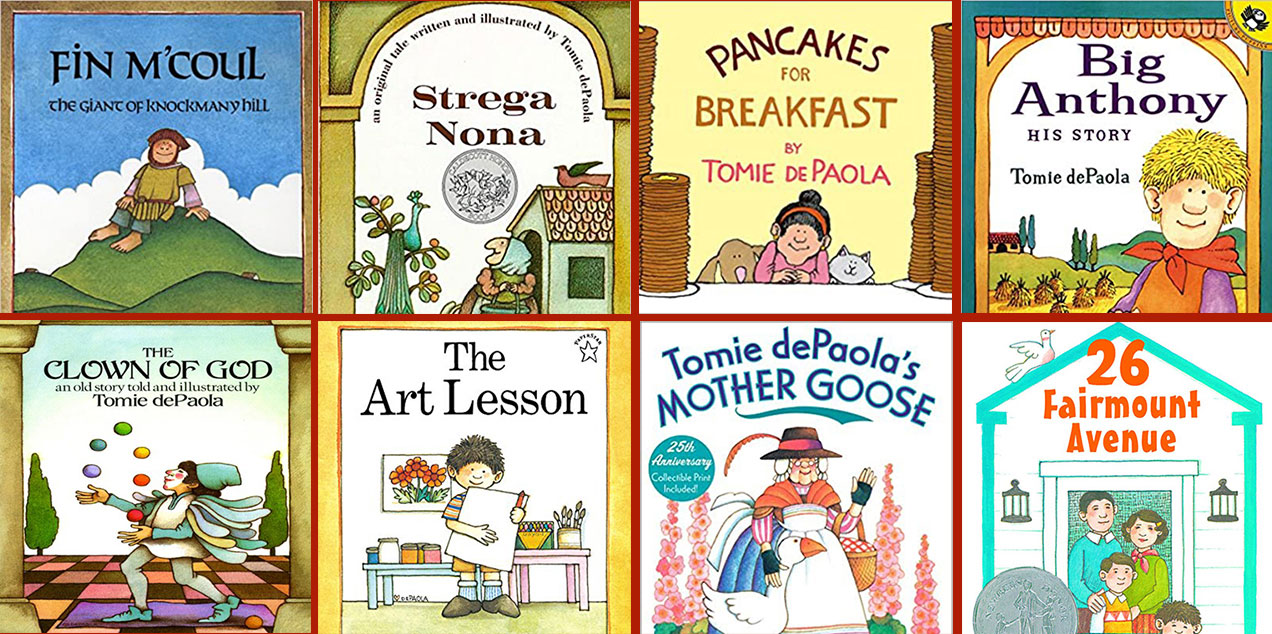Collection of book covers by Tomie dePaola