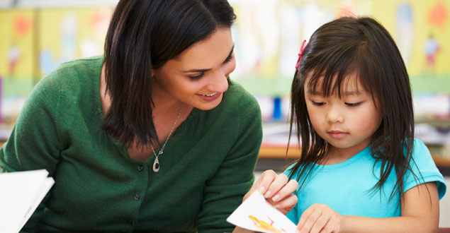 Teacher and child in early elementary classroom onset and rime
