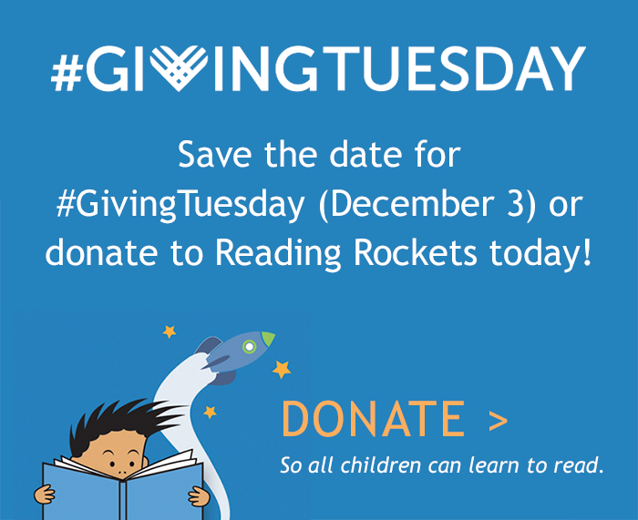 Giving Tuesday for Reading Rockets