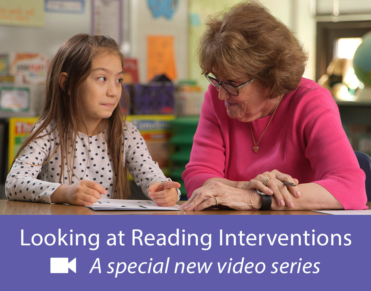 Reading intervention specialist working one-on-one with an elementary student struggling readers