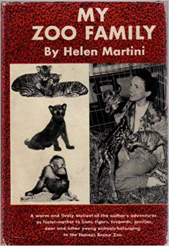 Cover of book My Zoo Family by zookeeper Helen Martini with zoo animals