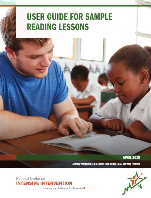 cover for User Guide for Sample Reading Lessons