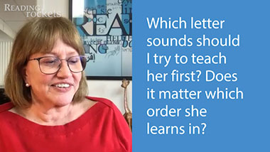 Reading expert Linda Farrell reads a question from a parent