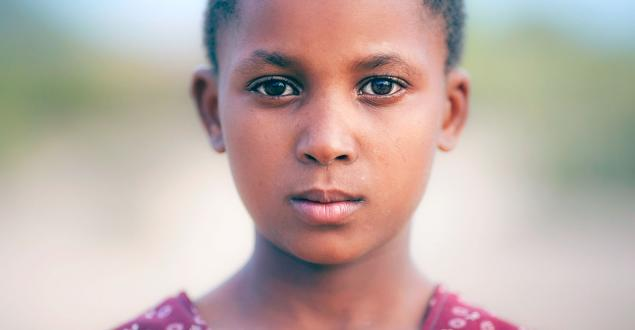 Portrait of a young African American student