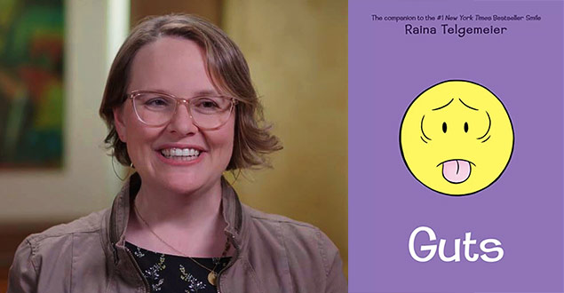 Headshot of graphic novelist Raina Telgemeier