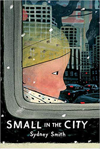 Cover for wordless picture book Small in the City