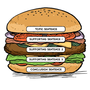 Paragraph hamburger classroom strategies reading rockets the paragraph hamburger is a writing organizer that visually outlines the key components of a paragraph topic sentence detail sentences and a closing pronofoot35fo Choice Image