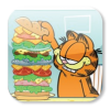 Garfield building a huge sandwich