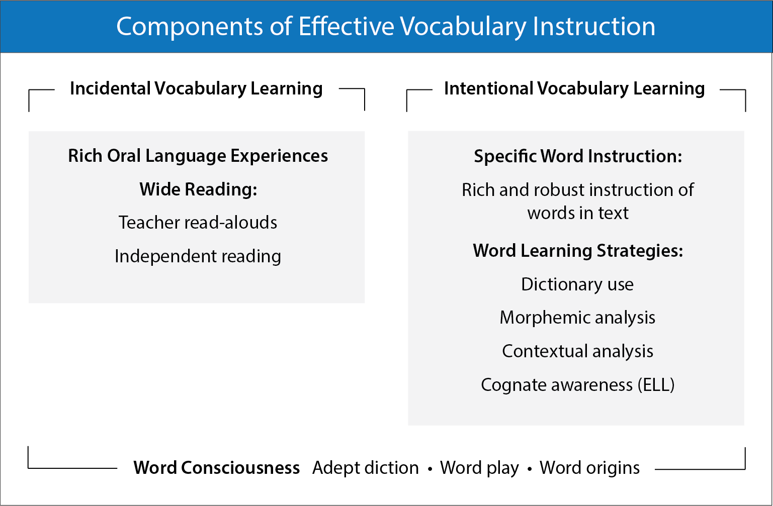 components of effective vocabulary instruction: incidental vocabulary learning and intentional vocabulary teaching