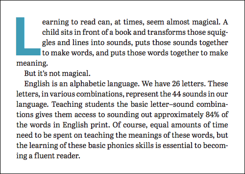 Wiley Blevins quote about learning to read