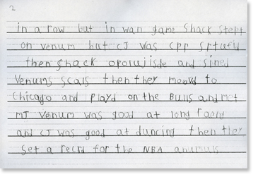 1st Grade, Writing Sample 5 Image