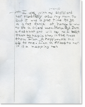 2nd Grade, Writing Sample 1 Image