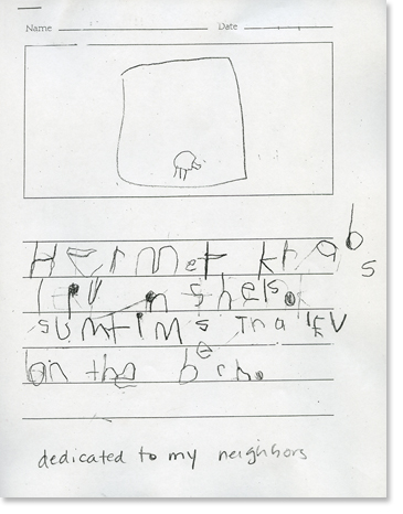 Kindergarten, Writing Sample 4 Image