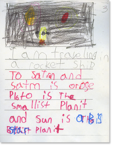Kindergarten, Writing Sample 5 Image